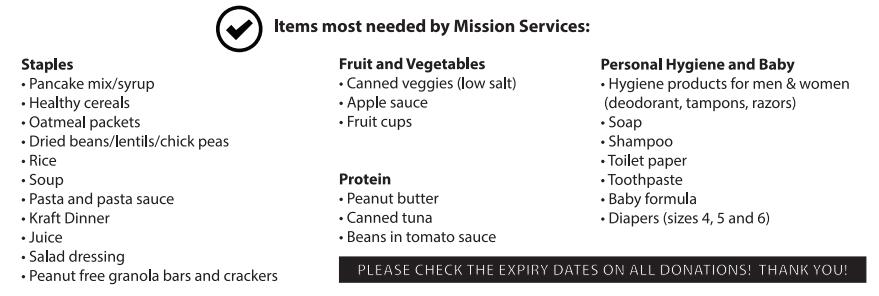 kfa items needed